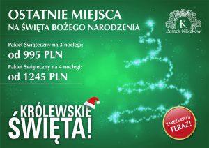 Święta Bożego Narodzenia 2018 w Zamku Kliczków