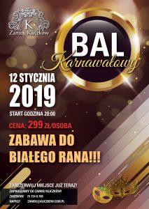 Bal Karnawałowy w Zamku Kliczków Plakat